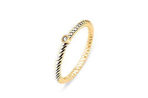 PAUL HEWITT Damenring Gold North Star Damen Edelstahl Ring 500x330 - PAUL HEWITT Damenring Gold North Star - Damen Edelstahl Ring (vergoldet) mit Swarovski-Stein, Fingerring für Frauen
