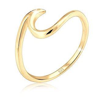 Elli Damen Ring mit Wellen Trendsymbol Strand Maritim in 925 347x330 - Elli Damen Ring mit Wellen Trendsymbol Strand Maritim in 925 Sterling Silber-Gold