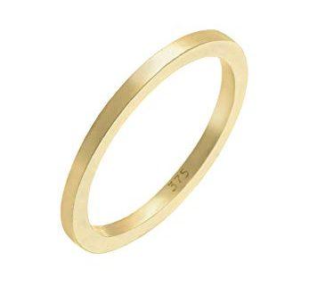 Elli Premium Damen Ring Basic 375 Gelbgold Gr.54 (17,2) 0608731315_54